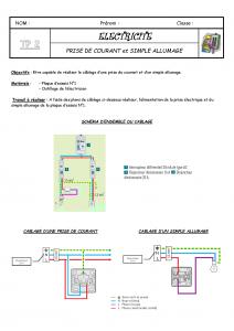 TP2 Prise de courant +Simple allumage